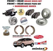 für Hyundai Tucson 2008-2010 Neu Vorder + Bremsscheiben SET HINTEN+BELÄGE+Schuhe