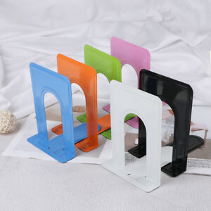 Colourful Heavy Duty Metal Bookends Book Ends Office Stationery SG