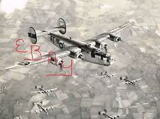 WWII ACTION 8X10 PHOTOGRAPH OF B-24 BOMBERS IN FLIGHT FROM THE 8TH USAAF LOOK