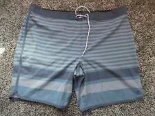 NWOT Hang Ten Men's Hybrid Short - Dusty Blue Stripe Size 42