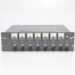 8 Urei 1109 Mic/Line Amp Preamp Cards in Custom Powered Rack #40314