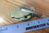 Vintage metal window latch lock brass color antique hardware