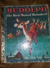 1977 Rudolph The Red Nosed Reindeer Little Golden Book LGB Children's Book