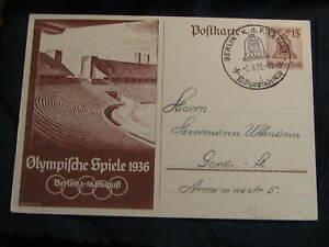 orig. old German  Postcard  Olympic Games 1936