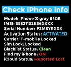 IPhone IMEI Info Checker, Find My iPhone, iCloud Status, Sim Lock, Carrier Check