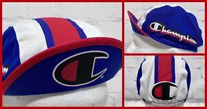 Champion Cycling Cap Hat Medium Large M/L Unisex Riding Cap Red White Blue NEW