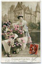 CPA - Carte Postale - Fantaisie - Femmes - Fleurs - 1909 (C8628)