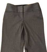 EXPRESS Editor Dark Gray Wide Waistband Flare Leg Low Rise Pants Size 4 S  - NEW