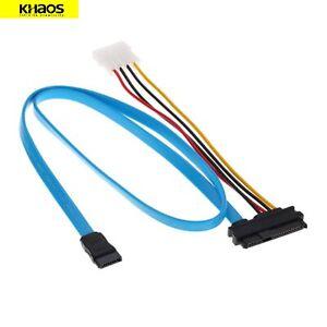 SFF-8482 to SAS 29P SATA Adapter Hard Drive Splitter Data Cable Kit DEN 70cm