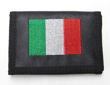 Portefeuille, porte-monnaie imprimé drapeau italien, Italie + chaine.