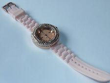 Watch lady MONTRE uhr FEMME strass GENEVA platinium JAPAN style diamant brillant