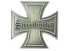 PIN Streetfighter Kreuz Biker Cross Ansteckpin EK  aus Metall  #326