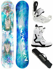 AIRTRACKS Femmes Set de Snowboard Glam + Fixation Master + Bottes + Sb Sac / 144