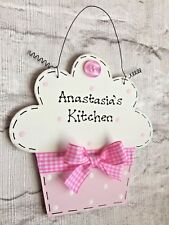 PERSONALISED CUPCAKE SIGN ~ Bedroom ~ Kitchen ~ Birthday ~ Shop ~ New Baby Gift