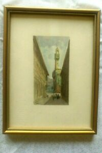 Framed Print/Water Colour of Uffizi Gallery Florence 21 x 15 cm