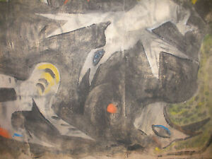 LISTED CANADA ARTIST DOROTHY HENZELL WILLIS (1899-1988) PAINTING ABSTRACT BIRD