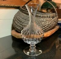 "Baccarat Crystal Primevere 8 1/2"" Footed Vase France - Pristine"