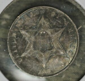 Uncirculated Details 1861 Three Cent Silver!