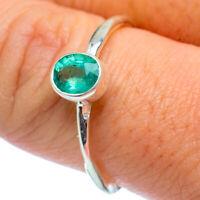 Zambian Emerald 925 Sterling Silver Ring Size 9 Ana Co Jewelry R37113F