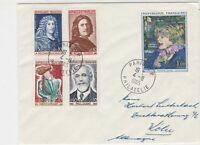 France 1965 Assorted Famous men & Toulouse-Lautrec  Stamps Cover Ref 29772