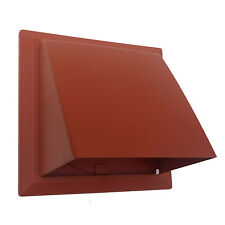 """150mm 6"""" Terracotta cowl with non return flap for core vent / extractor fan etc"""