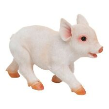 Realistic Running Piglet Garden Ornament Polyresin Pig Outdoor Animal Statue