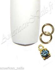 Piercing bijou Ongle Strass SWAROVSKI Bleu Indian Sapphire 2,5mm Nail Art