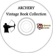 Archery Vintage Book Collection on CD - Archers, Bow & Arrow, Learn Archery