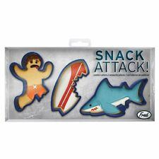 NEW Fred Biscuit Cookie Cutters Snack Attack Shark Surfer Surfboard