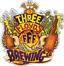 "Three Floyds Brewing Beer Alcohol Bumper sticker, wall decor, vinyl decal, 5""x5"""