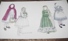 Vtg Paper Doll Convention 1997 Fairy Tales Sue Shanahan Uncut Poster Size!