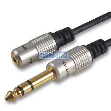 """Toma de auriculares aux corto 3.5mm hembra a 6.35mm Adaptador 1/4"""" Stereo Jack Plug"""