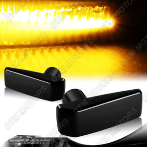 For Mercedes-Benz W124 W202 W140 Smoked Lens Amber LED Signal Side Marker Lights