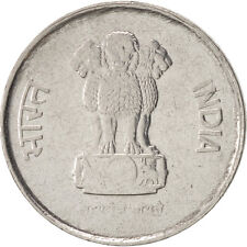 [#450329] INDIA-REPUBLIC, 10 Paise, 1989, AU(50-53), Stainless Steel, KM:40.1