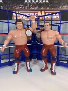 WWF LJN British Bulldogs w/ Belts!! Near Mint!! Vintage Titan Sports
