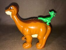 The Land Before Time Little Foot and Ducky Plastic Bank Fast Food Toy 2003
