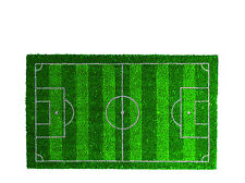 Fussmatte Türmatte Bodenmatte Türvorleger Matte Fussballfeld 75x45 cm Kokosfaser