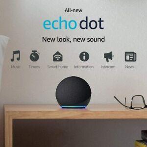Amazon Echo Dot (4th Gen) Smart Speaker with Alexa - Charcoal / White / Blue