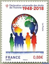 france 2018 1948 Universal Declaration Human Rights map earth droits homme 1v **