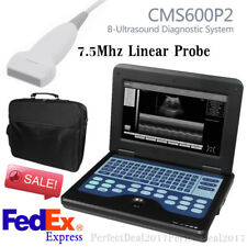 Ultrasound Scanner Laptop Machine CMS600P2 with 7.5Mhz Linear Probe,US Promotion