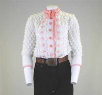 Vtg Bubble Knit 60s French Knot Floral Prairie Retro Cardigan Blogger Top 12