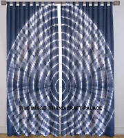 Indian Tie Dye Hippie Tulle Sheer Voile Door Window Curtain Drape Valances Set