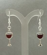 festive wine glass earrings