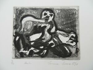 Limited edition original print Etching Seals 3/20 Irma Irsara 1990
