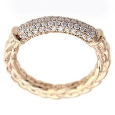 Ring 14k Rose Gold fN Sterling Silver 0.25cts Rose Gold And Diamond Right Hand