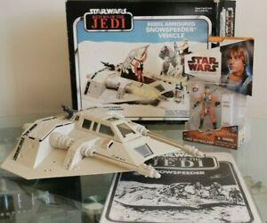 Vintage Star Wars Snowspeeder 1980 Boxed & Luke Skywalker Saga Legend Figure NEW
