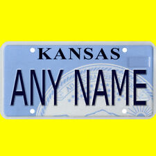 1/43-1/5 scale custom license plate set any brand RC/model car - Kansas tag