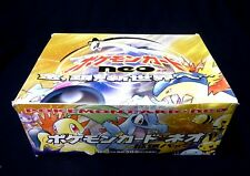 Pokemon Neo Genesis Booster EMPTY Box Japanese Edition from 2002  ( No cards )