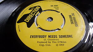 THE CHAMBERS BROTHERS WAKE UP c/w EVERYBODY NEEDS SOMEONE DIRECTION LABEL 1969