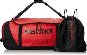 Marmot Long Hauler Travel Duffel Bag, Small (38 liter) Team Red / Black